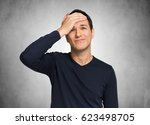 distracted man | Shutterstock . vector #623498705