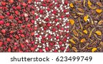 three kinds of chocolate bars... | Shutterstock . vector #623499749