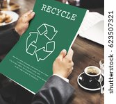 sustainable environmental... | Shutterstock . vector #623507321