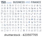 set line icons in flat design... | Shutterstock . vector #623507705