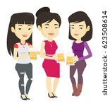 asian friends clanging glasses...   Shutterstock .eps vector #623508614