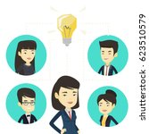 asian business people working... | Shutterstock .eps vector #623510579