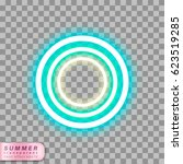 circles neon effect shape on... | Shutterstock .eps vector #623519285