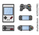 gamepad set vector illustration ... | Shutterstock .eps vector #623522981