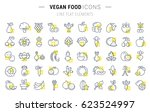 set line icons in flat design... | Shutterstock . vector #623524997