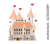 fairy medieval castle in... | Shutterstock .eps vector #623526089