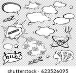 big set of cartoon  comic... | Shutterstock .eps vector #623526095