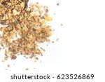 oat granola frame isolated on... | Shutterstock . vector #623526869
