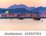view of coastline of muttrah... | Shutterstock . vector #623527451