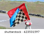 Flags Racing. Red  Yellow ...