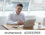 stylish middle aged businessman ... | Shutterstock . vector #623532905