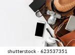 top view of essential modern.... | Shutterstock . vector #623537351