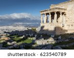 the porch of the caryatids in...   Shutterstock . vector #623540789