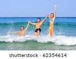 portrait of joyful group of... | Shutterstock . vector #62354614
