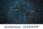 circuit board. electronic... | Shutterstock . vector #623549399