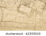 old plan of city | Shutterstock . vector #62355010