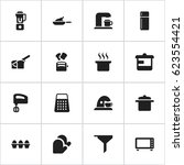 set of 16 editable food icons....