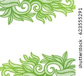 beautiful nature green... | Shutterstock .eps vector #623555291