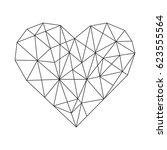 geometric hearts   geometric... | Shutterstock .eps vector #623555564