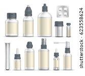 realistic empty pharmaceutical... | Shutterstock .eps vector #623558624