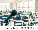 microphone speaker in seminar... | Shutterstock . vector #623560259
