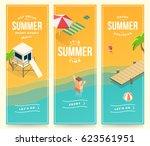 summer holidays  vacation  set... | Shutterstock .eps vector #623561951
