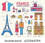 country france travel vacation... | Shutterstock .eps vector #623564294