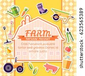 farm equipment elements on...   Shutterstock .eps vector #623565389