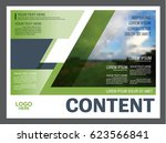 presentation layout design... | Shutterstock .eps vector #623566841