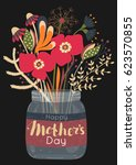 happy mother's day. spring... | Shutterstock .eps vector #623570855