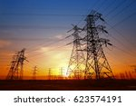 wire electrical energy at... | Shutterstock . vector #623574191
