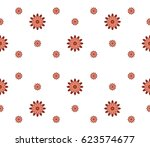 vector seamless pattern with... | Shutterstock .eps vector #623574677