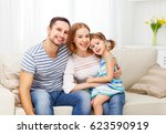 happy family mother  father ... | Shutterstock . vector #623590919
