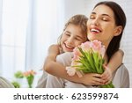 happy mother's day  child... | Shutterstock . vector #623599874