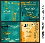vector poster for the jazz... | Shutterstock .eps vector #623602547