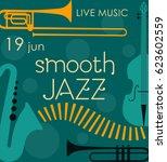 vector poster for the jazz... | Shutterstock .eps vector #623602559