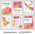 abstract vector layout... | Shutterstock .eps vector #623603831