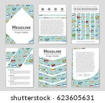 abstract vector layout... | Shutterstock .eps vector #623605631