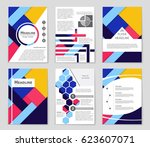 abstract vector layout... | Shutterstock .eps vector #623607071