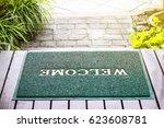 green welcome mat | Shutterstock . vector #623608781