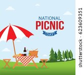 National Picnic Day Vector...