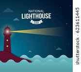 national lighthouse day vector