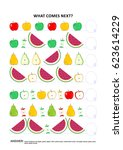 fruit and berry themed... | Shutterstock . vector #623614229