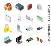 security color icons set... | Shutterstock .eps vector #623615975
