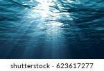 Sunbeams In The Blue Water 3d...