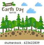 earth day concept illustration...   Shutterstock .eps vector #623622839