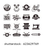 set of logos for handmade shops.... | Shutterstock .eps vector #623629769