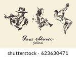 set of illustrations of a man... | Shutterstock .eps vector #623630471