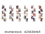standing together corporate... | Shutterstock . vector #623636465