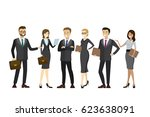 happy and success business... | Shutterstock .eps vector #623638091
